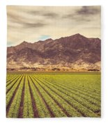 Winter Lettuce Fleece Blanket