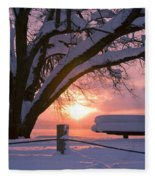 Winter Light Fleece Blanket