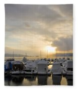 Winter Marina Fleece Blanket