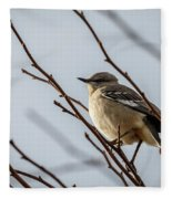 Winter Mockingbird Fleece Blanket