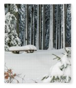 Winter Moments In Harz Mountains Fleece Blanket