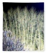 Winter Moonlight Fleece Blanket