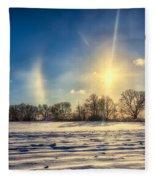 Winter Morn In Minnesota Fleece Blanket