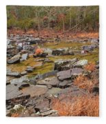 Winter Morning On Marble Creek 1 Fleece Blanket
