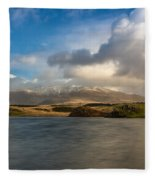 Winter Mountains Fleece Blanket