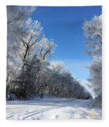 Winter On 210th St. Fleece Blanket