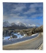 Morant's Curve On The Bow Valley Parkway Fleece Blanket
