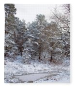 Winter On The Chase Fleece Blanket