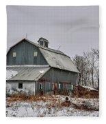 Winter On The Farm 2 Fleece Blanket