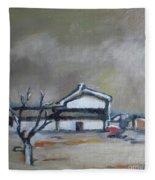 Winter On The Farm Fleece Blanket