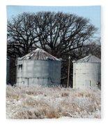 Winter On The Prairie Number 1 Fleece Blanket
