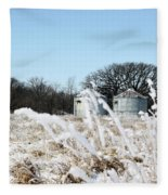 Winter On The Prairie Number 2 Fleece Blanket