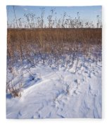 Winter On The Prairie Fleece Blanket