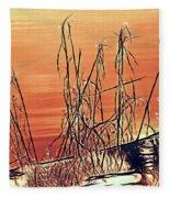 Winter Orange Fleece Blanket