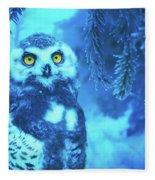 Winter Owl Fleece Blanket