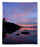 Winter Pastel Sundown Serenity Fleece Blanket