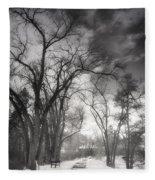Winter Pathways Fleece Blanket