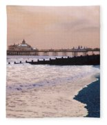 Winter Pier Fleece Blanket
