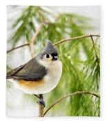 Winter Pine Bird Fleece Blanket