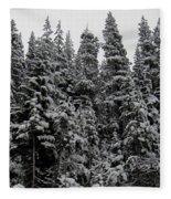 Winter Pine Spires Fleece Blanket