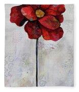 Winter Poppy II Fleece Blanket