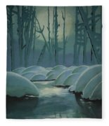 Winter Quiet Fleece Blanket
