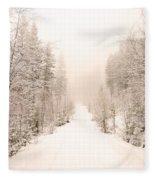 Winter Quiet Fleece Blanket
