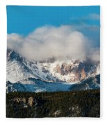 Winter Receding On Pikes Peak Fleece Blanket