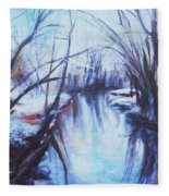 Winter Reflections Fleece Blanket