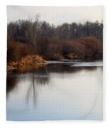 Winter Riverbank Fleece Blanket