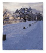 Winter Road Fleece Blanket