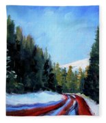 Winter Road Trip Fleece Blanket