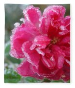 Winter Rose Fleece Blanket
