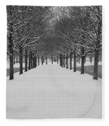 Winter Rows Fleece Blanket