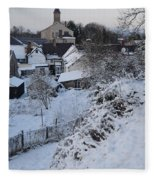 Winter Scene In North Wales Fleece Blanket
