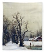Winter Scene Fleece Blanket