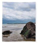 Winter Seascape - Lyme Regis Fleece Blanket