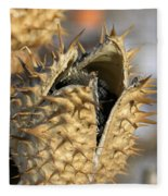 Winter Seed Pod Fleece Blanket