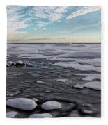 Winter Shoreline Fleece Blanket