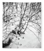 Winter Shrubs, New Hampshire Fleece Blanket