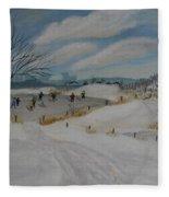 Winter Skate Fleece Blanket