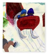 Winter Sleigh Ride Through The Tunnel Fleece Blanket