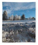 Winter Snow At Kenosha Pass Fleece Blanket