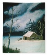 Winter Solitude Fleece Blanket
