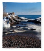 Winter Splash Fleece Blanket