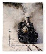 Winter Steam At Rockwood Colorado Fleece Blanket