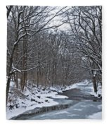 Winter Stream Fleece Blanket