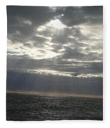 Winter Sun At Sea Fleece Blanket