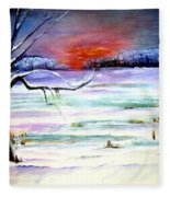 Winter Sun Fleece Blanket