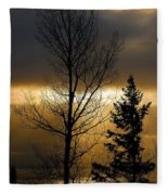 Winter Sunrise 2 Fleece Blanket